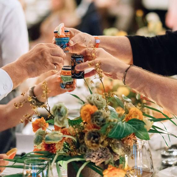 ariel trevor wedding tulum mexico shot toast