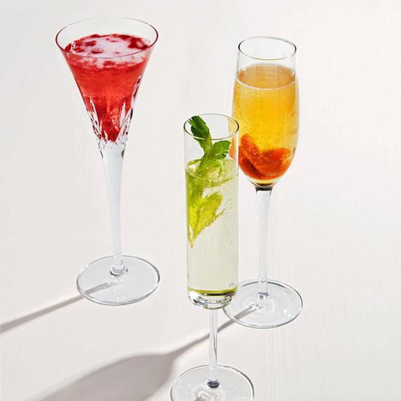 flute cocktails raspberry sauternes apricot celery