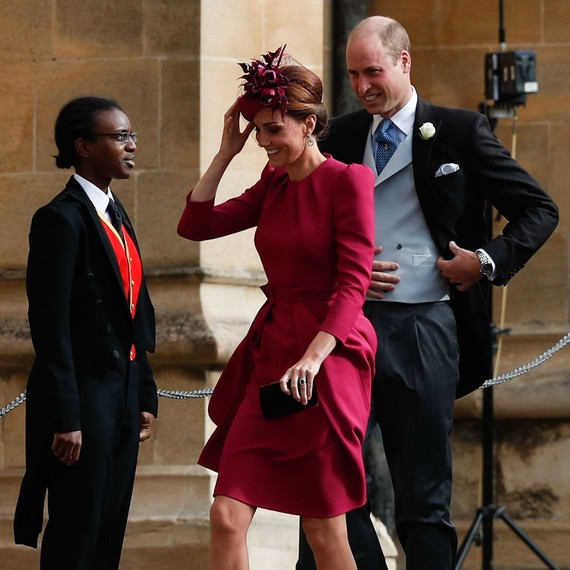266ed1d62bff8 Kate Middleton and Prince William at Princess Eugenie s 2018 royal wedding