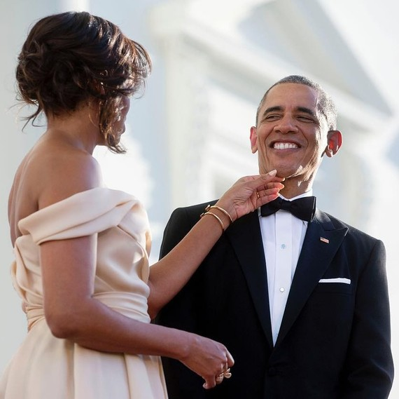 Michelle and Barack Obama at State Dinner in Singapore