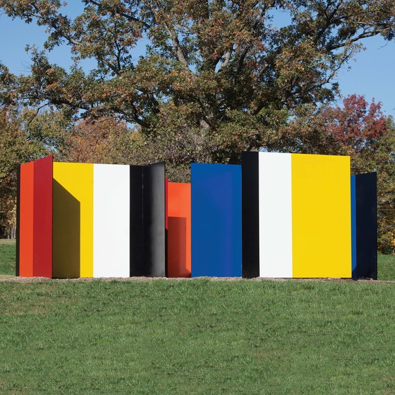 "Tony Rosenthal's ""House of the Minotaur"" at Laumeier Sculpture Park"