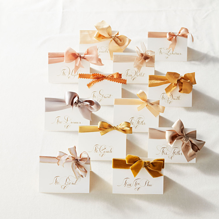 Escort Cards with Bows