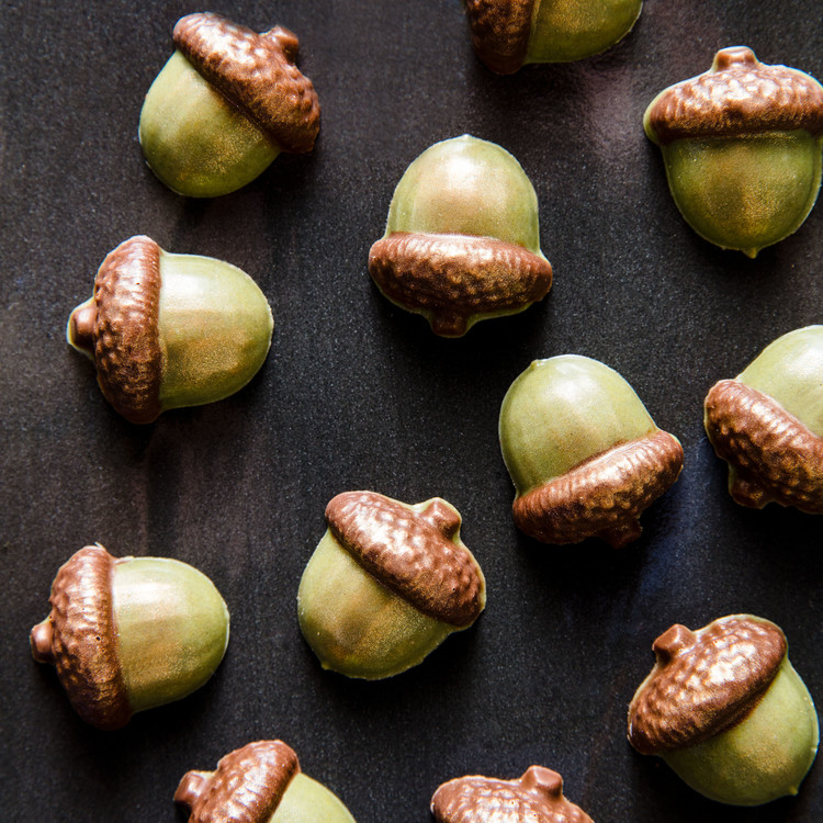 Acorn Shaped Truffles by Paula LeDuc Finger Catering