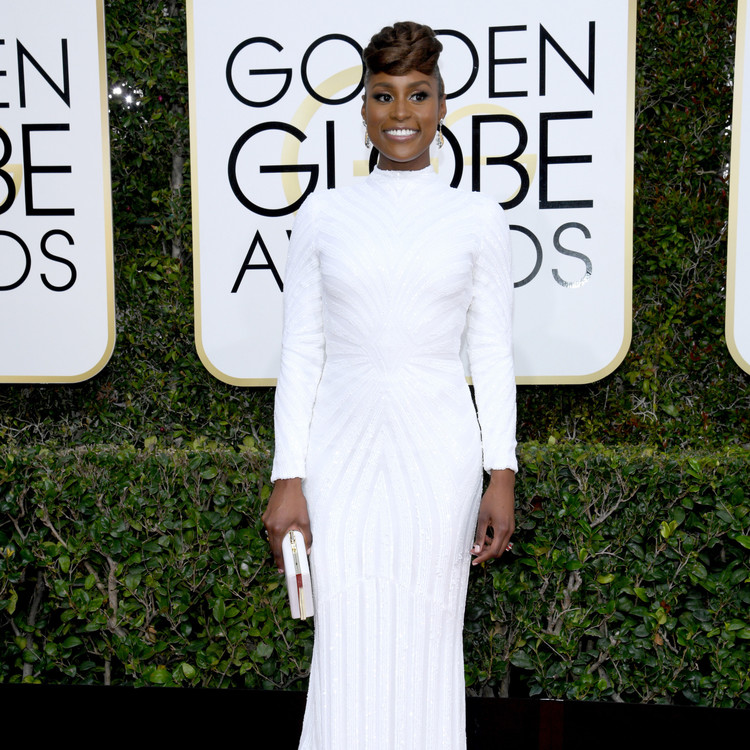 Issa Rae Golden Globes 2017 Red Carpet