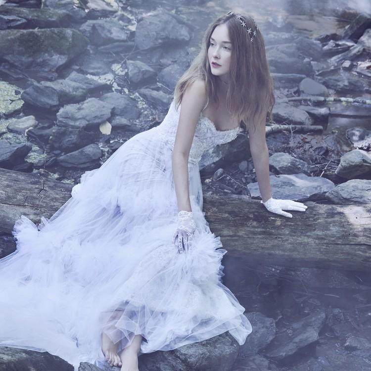 marchesa hydrangea gown