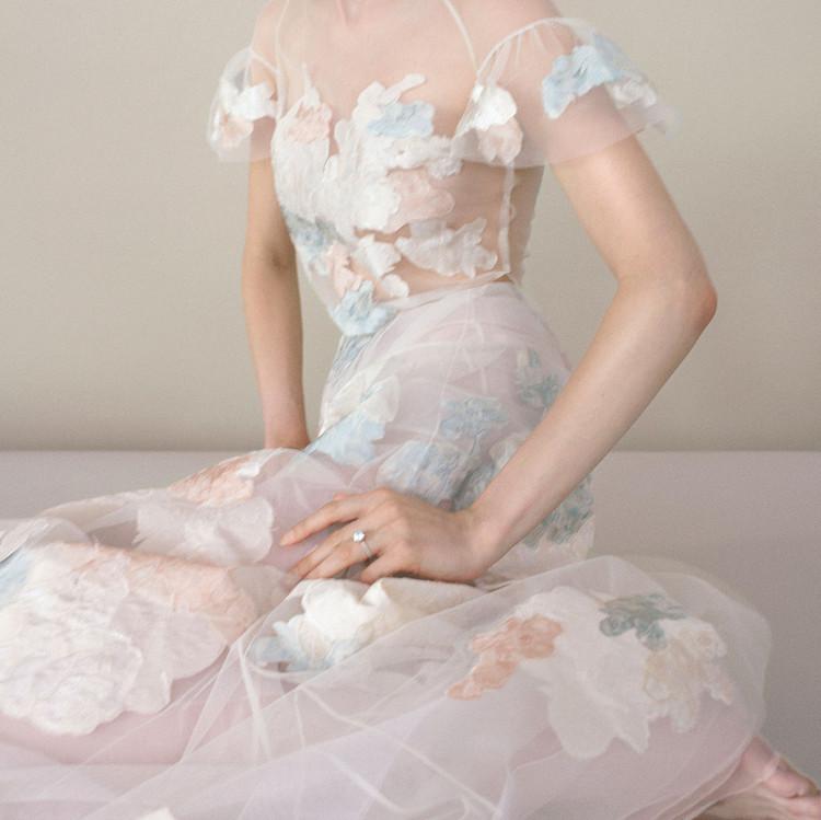 mira zwillinger rainbow gown
