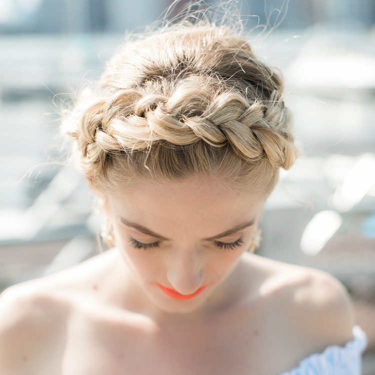 Face Time Beauty Braided Crown Updo