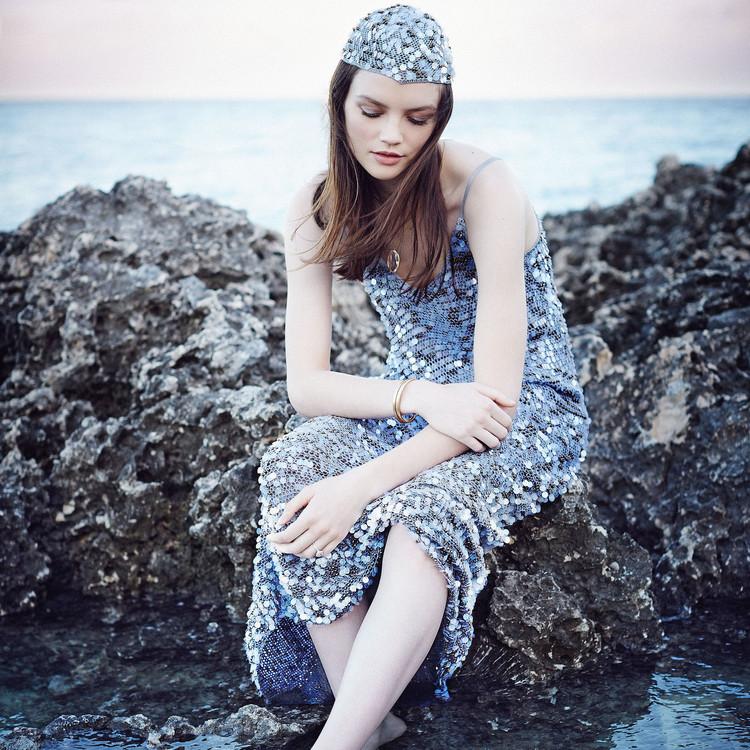 maria korovillas isadora metallic dress