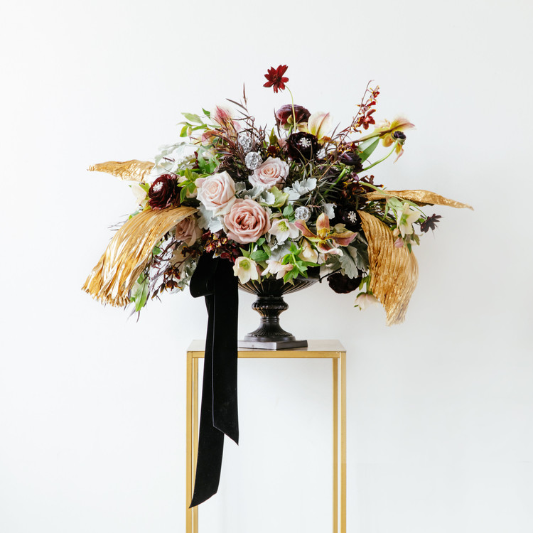 Deep hue floral arrangement