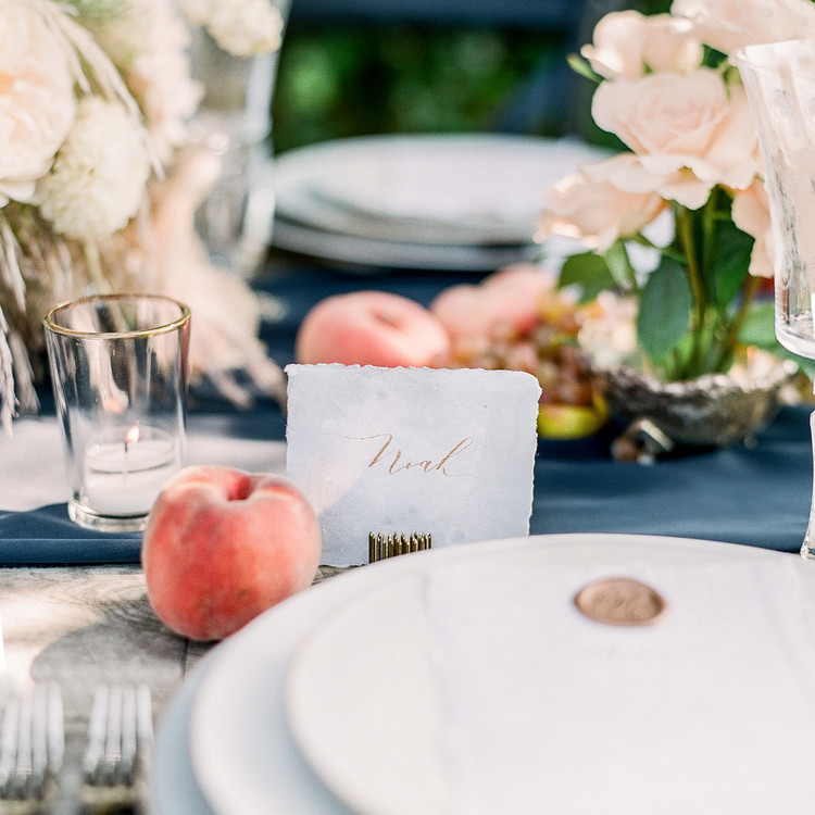 Navy and White Wedding inspiration Shoot at Wave Hill, Place Card